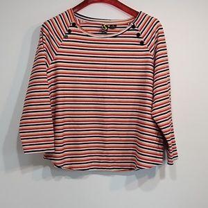 Sportelle top blouse lightweight sweater